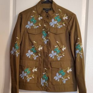 NEW, Ann Taylor Embroidered Military Jacket